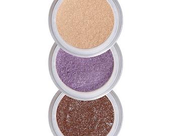 Eyeshadows for Brown Eyes, Coordinated Colors, Brighten Brown Eyes, Eye Shadow, Eyeshadow Kit, Pure Natural Makeup, Crease Free Color