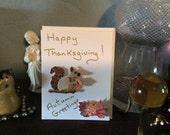 Handmade card: Happy Thanksgiving! Autumn Greetings