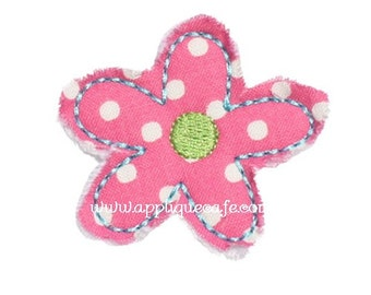 354 Add on Raggy Flower Machine Embroidery Applique Design