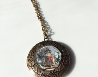 Antique Map Locket- Necklace