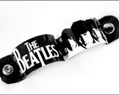 Manschette die Beatles, die Beatles, Beatles Geschenke, Beatles Kunst, die Beatles-Schmuck, Schwarzweiß, Manschette Armband, Leder Manschette, Mens Schmuck