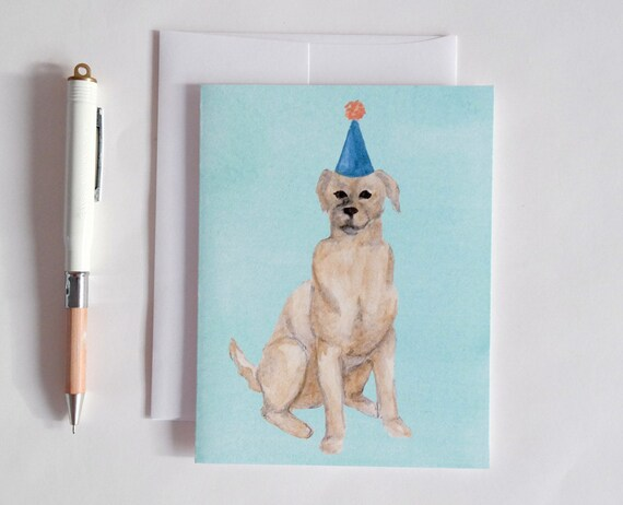 Greeting Card: Party Dog VIII