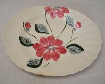 Vintage Poinsettia Blue Ridge Southern Potteries Platter