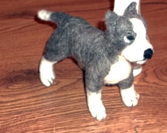 Needle Felted Pitbull Terrier
