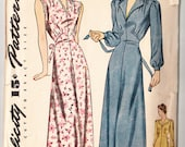 Vintage 1942 Simplicity 4456 Sewing Pattern Women's Nightgown Size 34 Bust 34