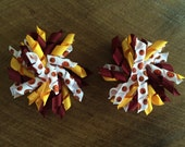 Cleveland Cavs or School Colors Korker Bows Pair