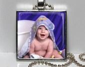 Custom Photo Gift, Personalized Memory Pendant, Metal Framed PHOTO Necklace, New Baby, Wedding, Grandparent, Cat, Dog, BFF, Boyfriend, Pal