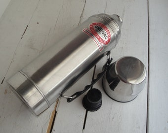Vintage Uno Vac Thermos Stainless Steel
