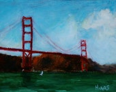 Custom listing for Bill only - Two Original Oil Paintings - Golden Gate Bridge and Container Ship