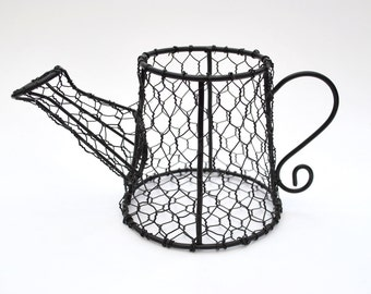 Wire watering can black wire for floral craft supply flower arrangement
