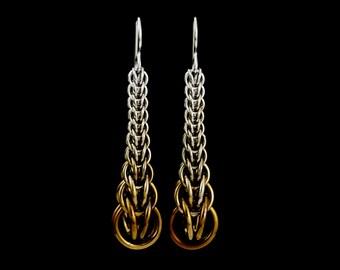 Sylvia Earrings in Winter Fade Niobium