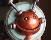 3D Wallart Bronze Shabby Chic Happiness Bot - Clay, Wire, Paint