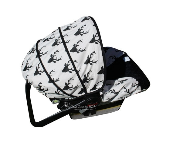 Buck Forest Black Infant Car Seat Cover