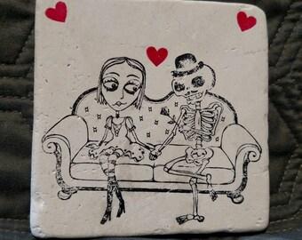 Skeleton Love Coasters