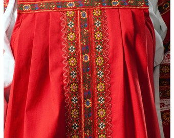 TRADITIONAL Russian dress sarafan ethnic clothes Slavic dress historical attire national clothing Russia country costume folk dance wear