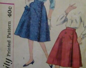 Simplicity 3166 Wrap Around Skirt 1950s