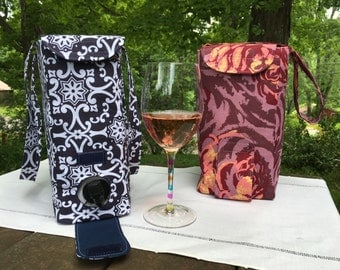 Wine Box Cover and Bag PDF Pattern