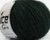 Dark Forest Green Nova - Ice Acrylic Wool Mohair Yarn 40545 - Worsted 50gr 98yds