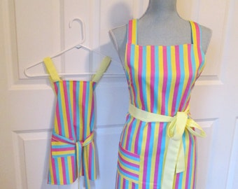 Mom and Me Candy Striped Aprons