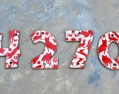 Ceramic House Numbers, rustic House Tiles, handmade Address Numbers, Clay Numbers - made to order