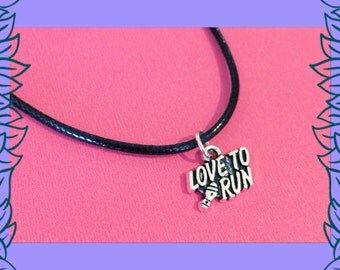 SALE fitness jewelry, love to run necklace, fitness jewellery, gym fitness gift