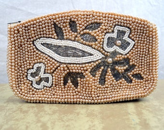 Lovely Beaded Clutch Purse - Made in Japan
