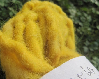 Tasty Turmeric Super Bulky Handspun Heritage Wool Yarn