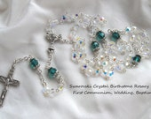 Swarovski Crystal Birthstone Rosary - Communion, Baptism, Wedding