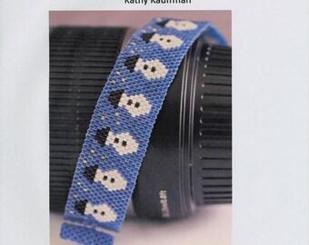 Pattern - Snowman Peyote Bracelet Pattern