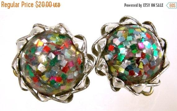 30% Off Sale Confetti Lucite Earrings