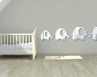 Elephant Family Wall Mirrors (Set of 4)