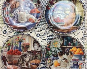Cat Display Plates/Bradford Exchange/