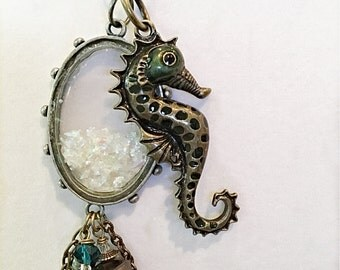 Seahorse  Necklace , Seahorse Charm Necklace