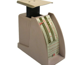 Vintage Postal Scale from late 1960's back when a first class stamp was 6 cents