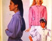 mccalls pattern 3319 ~ misses blouse ~ (1987) ~ UNCUT