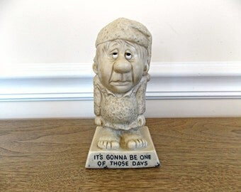 R&W Berries Company Figurine, 1970s Kitsch. Old Man Figurine, Humor, Office, Desk, Collectible Figurine, Retro, Gift, Home Decor, Comedy