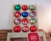 Shiny Brite Christmas Ornaments, Box of 12