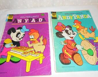 Comic Book Andy Panda set of 2