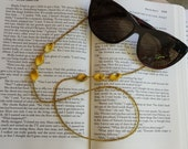 Beaded Eyeglasses Chain Holder - Gold and Yellow