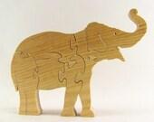 Indian Elephant Wood Puzzle