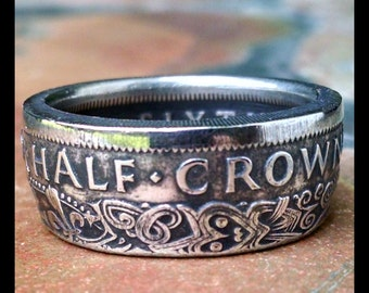 New Zealand Half Crown Coin Ring - 1950 New Zealand Coin Ring - Size: 10 1/4
