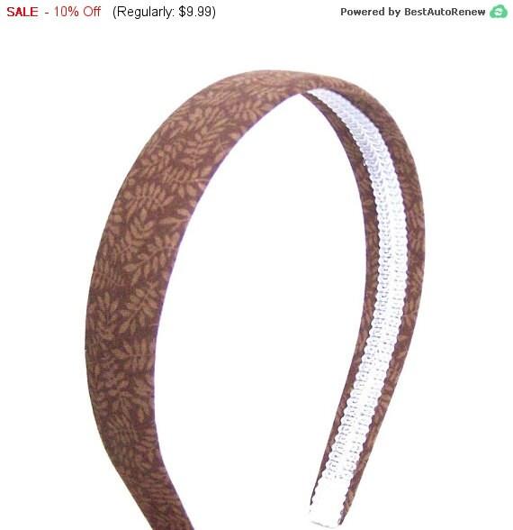 SALE Brown Leaves Headband  - Neutral Autumn / Fall Leaves