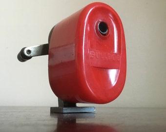 Vintage Red Bulldog Sharpener.