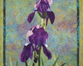 Irises Art Quilt Pattern by Lenore Crawford