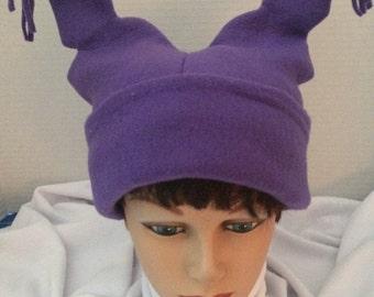 Purple Fleece Chowder Hat