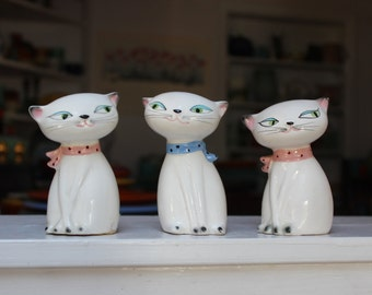 Holt Howard 3 Cozy Kitten Salt and Pepper Shakers VINTAGE by Plantdreaming