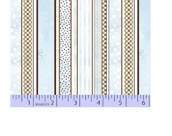 Marcus Fabrics Bella Baby Blue Stripes