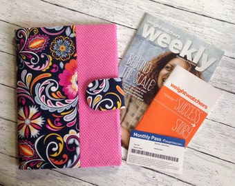 Weight Watchers 2017 SmartPoints Program ~ Deluxe Organizer ~ for Weekly Handouts~Weigh In Journal~ Monthly Pass ~Holder Cover ~ 48 Fabrics.