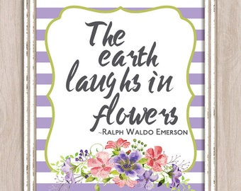 Printable Wall Art Earth Laughs In Flowers