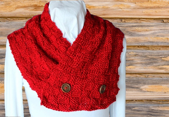 Knit Scarf Pattern Knitted Scarf Pattern with Buttons
